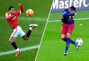 کنترل توپهای استثنایی در فوتبال جهان