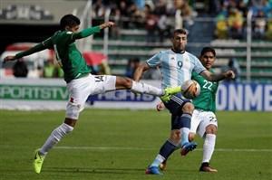 بولیوی 2-0آرژانتین؛ مجازات بدون مسی
