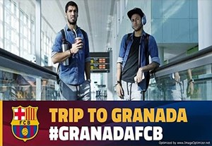 سفر بازیکنان بارسلونا به گرانادا
