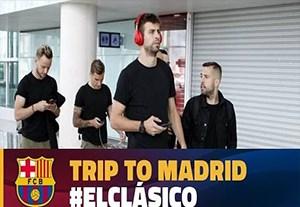 سفر بازیکنان بارسلونا به مادرید