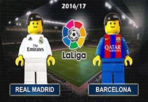 شبیه سازی بازی رئال مادرید - بارسلونا با لگو