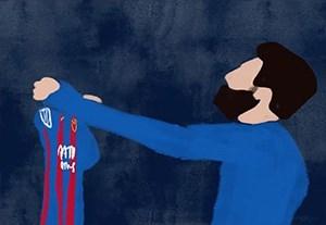 انیمیشن گل دیدنی مسی به رئال مادرید