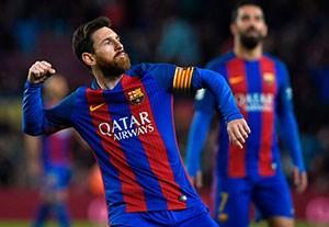 خلاصه بازی بارسلونا 7-1 اوساسونا(درخشش مسی)