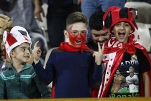 عجیبترین گریمها روی سکوهای ورزشگاه آزادی (عکس)
