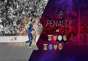 پنالتی های لیونل مسی در فصل 2017-2016