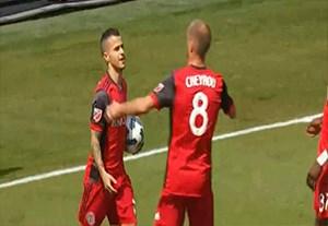 گل پنالتی جووینکو در بازی مقابل مینسوتا یونایتد