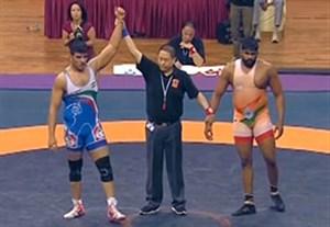 کسب مدال طلای محبی در کشتی آزاد قهرمانی آسیا