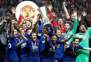 جشن قهرمانی منچستریونایتد در لیگ اروپا