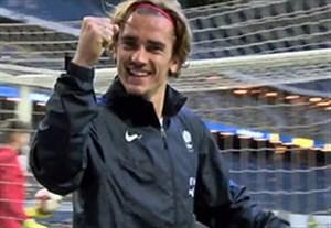 شادی عجیب گریزمان در تمرین گلزنی تیم ملی فرانسه