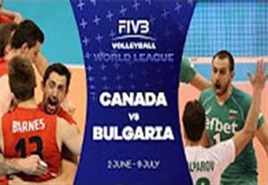 خلاصه والیبال کانادا 3-1 بلغارستان