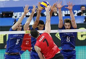 خلاصه والیبال فرانسه 3-0 کانادا