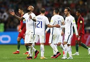 خلاصه وقت اضافه و پنالتی بازی پرتغال 0-0 شیلی(0-3)