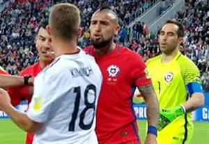 جنجال و درگیری در بازی شیلی - آلمان