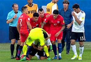 چالش عجیب بازیکنان شیلی برای گرفتن توپ از امره جان