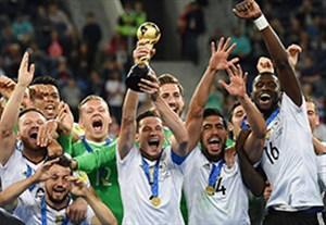 جشن قهرمانی تیم ملی آلمان در جام کنفدراسیون ها 2017