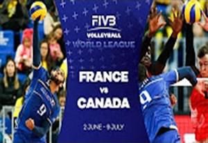 خلاصه والیبال فرانسه 3-1 کانادا