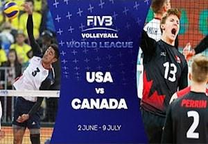 خلاصه والیبال آمریکا 1-3 کانادا