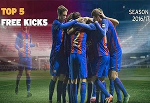 5 گل ضربه ایستگاهی دیدنی آکادمی بارسلونا در فصل 2017-2016