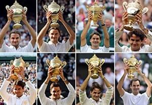 نگاهی به هشت قهرمانی راجر فدرر در ویمبلدون