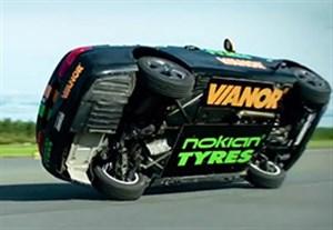 رکورد فوق العاده سرعت اتومبیل بر روی دو چرخ