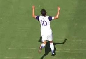 گلهای بازی آتلانتا یونایتد 1-1 اورلاندوسیتی (گلزنی کاکا)