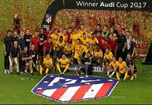 جشن قهرمانی اتلتیکو مادرید در آئودی کاپ 2017