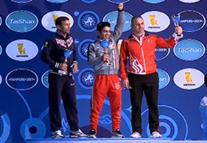 مراسم اهدای جام قهرمانی ایران در کشتی فرنگی جهان