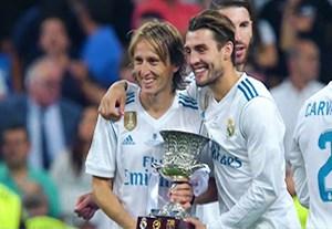 مراسم اهدای جام قهرمانی به رئال مادرید
