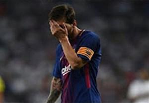 واکنش مسی به سوپرگل آسنسیو در بازی برگشت سوپرکاپ