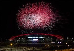 مراسم افتتاحیه جذاب ورزشگاه جدید اتلتیکو مادرید