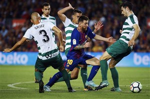 بارسلونا 6-1 ایبار؛ غیرقابل مهار مثل مسی