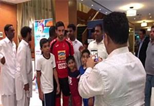 استقبال هوادران از تیم پرسپولیس در ابوظبی