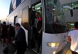 ورود بازیکنان پرسپولیس به ورزشگاه برای رویارویی با الهلال