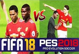 مقایسه عکس العمل بازیکنان در PES 18 و FIFA 18