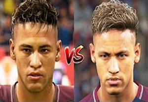 مقایسه چهره بازیکنان در PES 18 و FIFA 18
