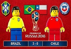 شبیه سازی بازی برزیل - شیلی با لگو
