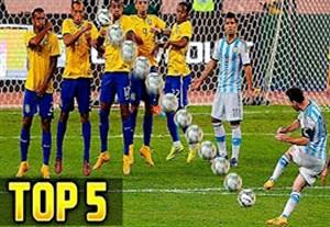 5 ضربه ایستگاهی برتر مسی در تیم ملی آرژانتین