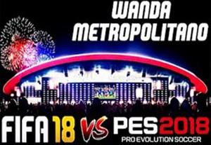 مقایسه ورزشگاه متروپولیتانو در PES 18 و FIFA 18