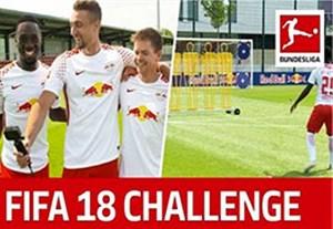 چالش ضربه آزاد بازیکنان لایپزیش به سبک FIFA 18