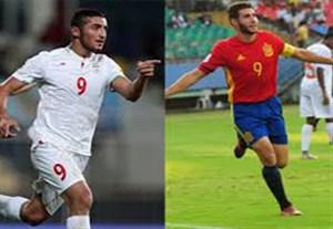 پیش بازی دیدار نوجوانان اسپانیا - نوجوانان ایران
