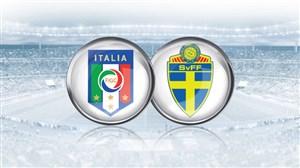 خلاصه بازی ایتالیا 0 - سوئد 0