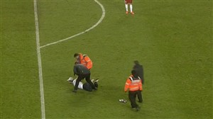 جیمی جامپ در بازی فرانسه- آلمان