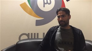 صحبت های امیر حسین صادقی در غرفه ورزش سه ( نمایشگاه رسانه های دیجیتال )