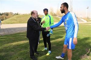 جلسه افتخاری با بازیکنان بعد از جشن قهرمانی