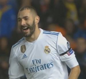 گل دوم رئال مادرید به آپوئل (کریم بنزما)