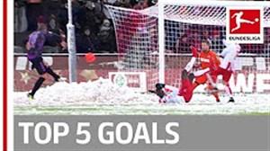5 گل برتر هفته پانزدهم بوندسلیگا