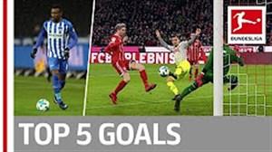 5 گل برتر هفته 17 بوندسلیگا