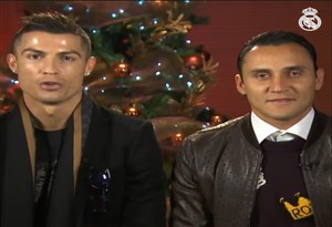 تبریک کریسمس بازیکنان رئال مادرید
