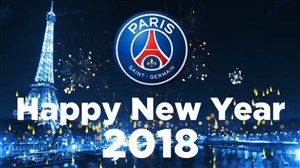 تبریک سال نو میلادی  توسط باشگاه پاریس سن ژرمن