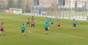تمرین تیم رئال مادرید برای رویارویی با نومانسیا